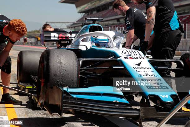 Rokit Williams of Nicholas Lafiti during the test on 14th May 2019 in Barcelona Spain