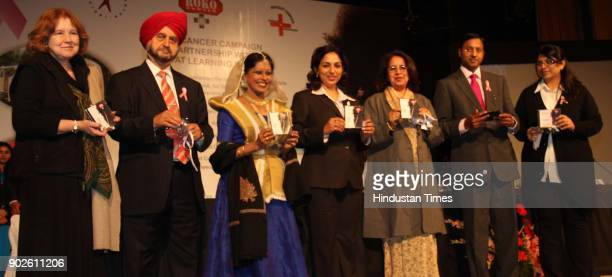 'Roko Breast Cancer Campaign' that aims at spreading awareness about breast cancer and its detection organised at the India Habitat Centre in New...