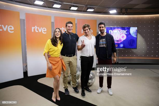 Roko Manu Tenorio Carlos Baute and Alex Ubago attend the presentation of 'Fantastic Duo' Tv programme on May 8 2017 in Madrid Spain