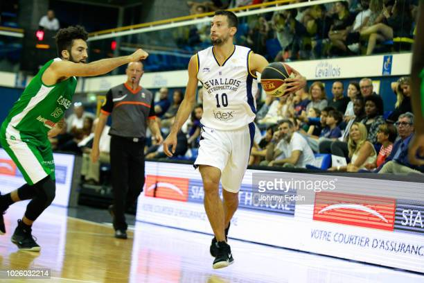 Roko Ukic of Levallois during the Trophy Michael Brooks match between Levallois Metropolitans and Limoges on September 1 2018 in Paris France