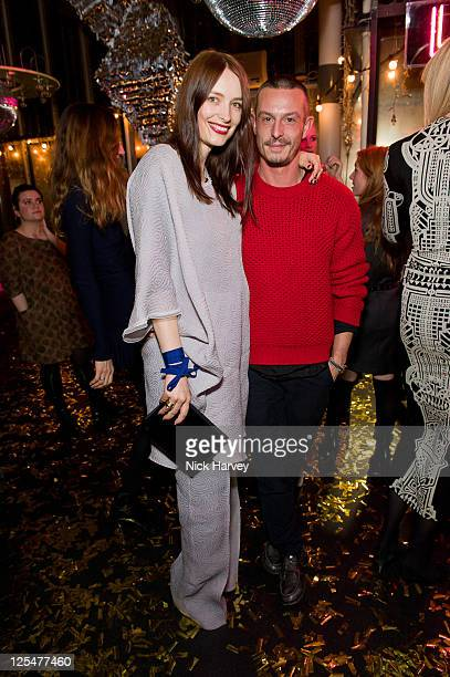 Roksanda Ilincic and Jonathan Saunders attend the launch of Lulu Co at Harvey Nichols on October 21 2010 in London England