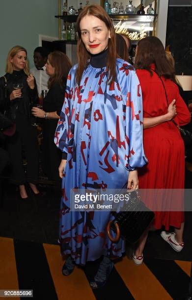 Roksanda Ilincic attends a cocktail party in honour of Alison Loehnis' 10 year anniversary at NETAPORTER on February 19 2018 in London England