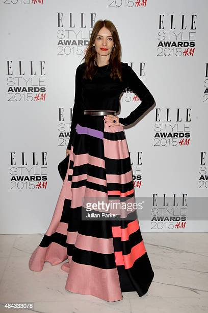 Roksanda Ilincic attends the Elle Style Awards 2015 at Sky Garden @ The Walkie Talkie Tower on February 24 2015 in London England