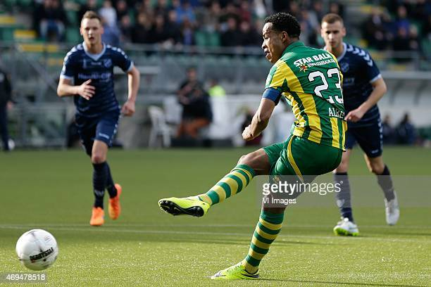 Roland Alberg of ADO Den Haag during the Dutch Eredivisie match between ADO Den Haag and FC Utrecht at Kyocera stadium on April 12, 2015 in The...