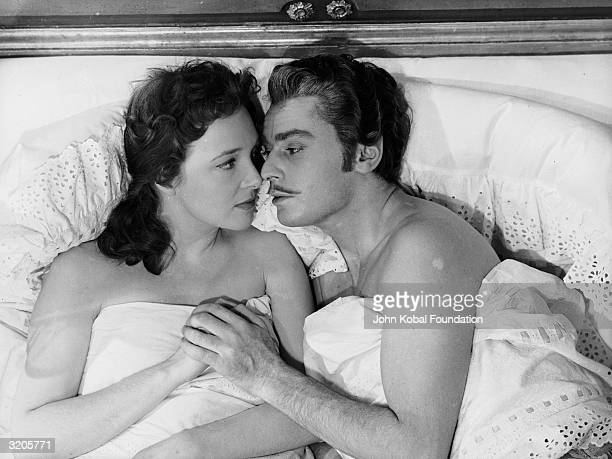 Roland Alexandre and Micheline Presle star as the doomed lovers Armand and Marguerite in 'La Dame aux Camelias' directed by Raymond Bernard