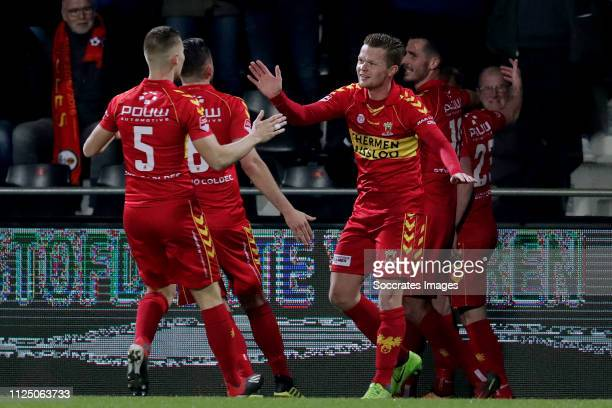 Roland Baas of Go Ahead Eagles Jeff Stans of Go Ahead Eagles Pieter Langedijk of Go Ahead Eagles Paco van Moorsel of Go Ahead Eagles Richard van der...