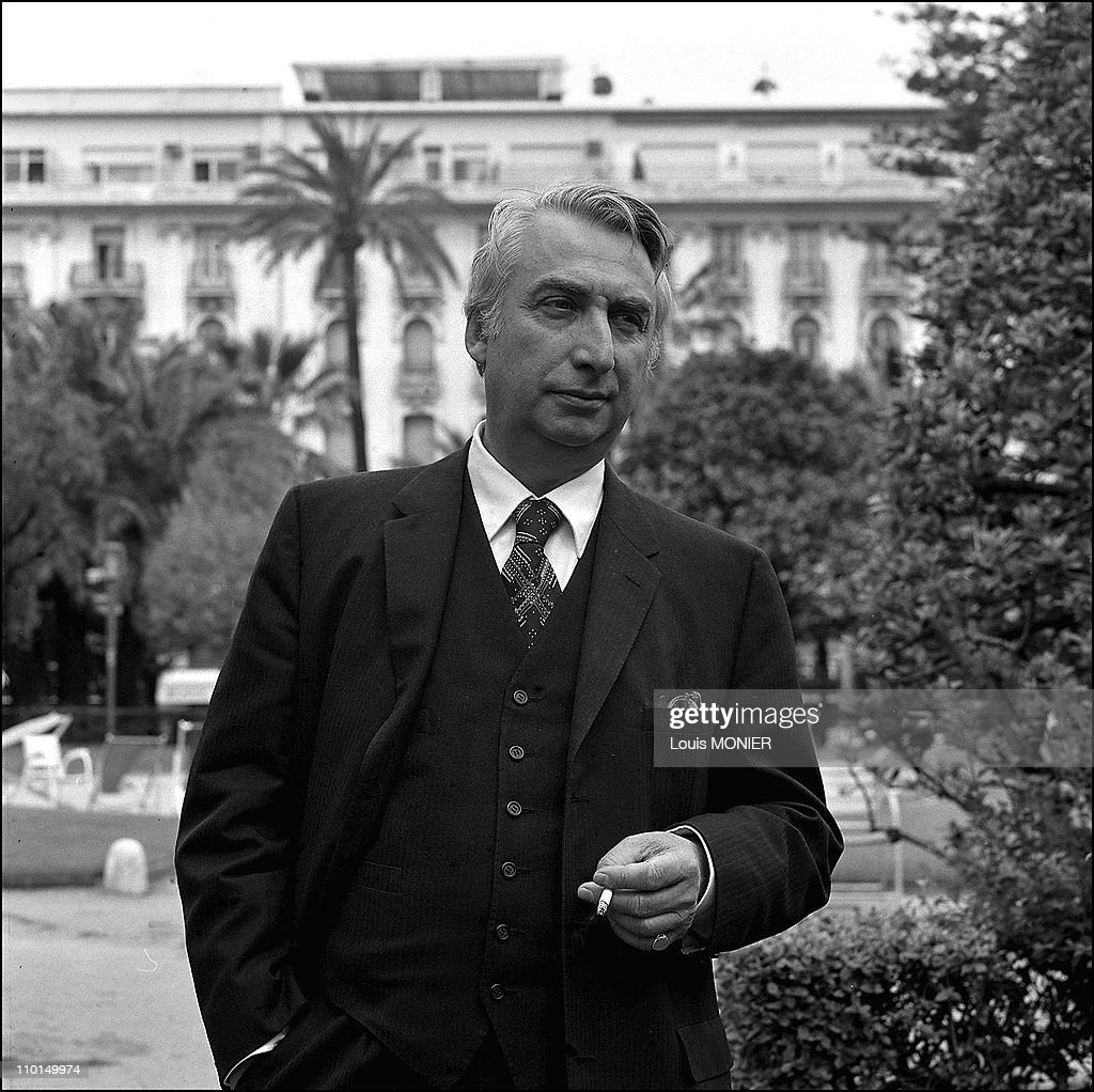 Roland Barthes, writer (N+B) in France in 1972.