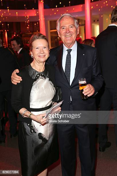 Roland Berger and his wfe Karin Berger during the PIN Party Let's party 4 art' at Pinakothek der Moderne on November 26 2016 in Munich Germany