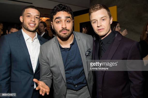 Roland Buck III EJ Bonilla and Noel Fisher attend the after party for the premiere of National Geographic's 'The Long Road Home' at Royce Hall on...