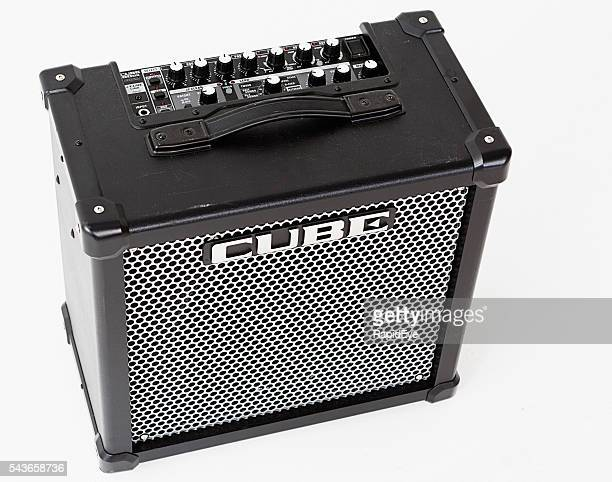 Roland Cube 80GX guitar amplifier seen from above, showing controls