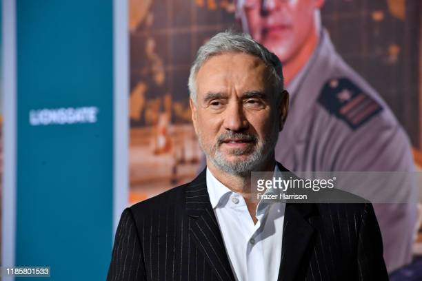 Roland Emmerich attends the Premiere Of Lionsgate's Midway at Regency Village Theatre on November 05 2019 in Westwood California