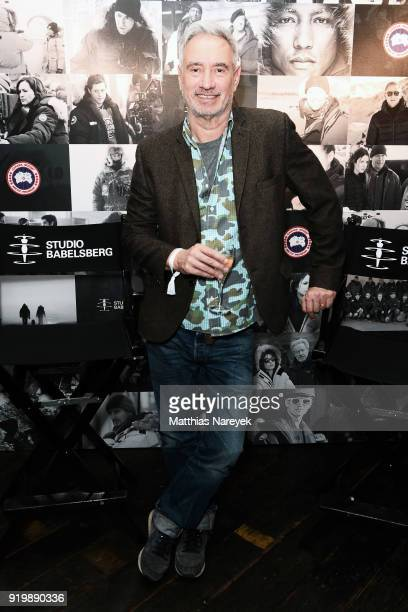 Roland Emmerich attends the Studio Babelsberg Night X Canada Goose on the occasion of the 68th Berlinale International Film Festival at Soho House on...