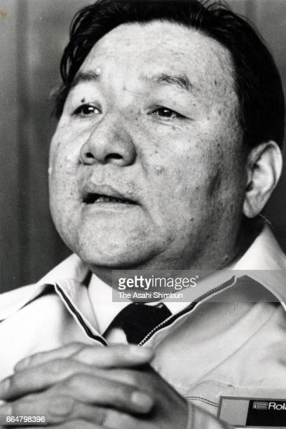 Roland founder Ikutaro Kakehashi speaks during the Asahi Shimbun interview circa 1985 in Japan