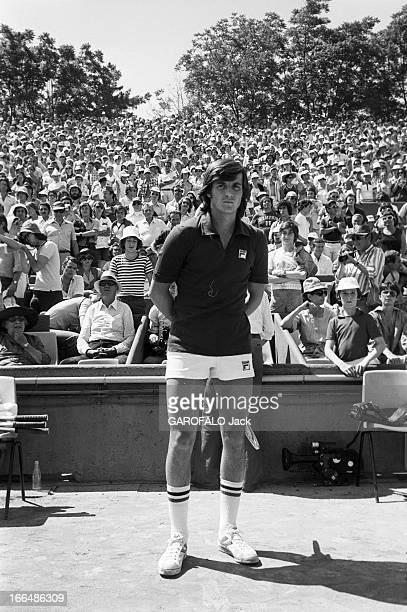 Roland Garros International Tennis Tournament 1976. Paris, Rolland Garros- 14 juin 1976- Lors des Internationaux, Adriano PANATTA, joueur de tennis...