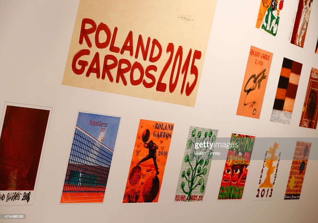 Roland Garros poster designs are seen ahead of the 2015 French Open at Roland Garros on May 23, 2015 in Paris, France.