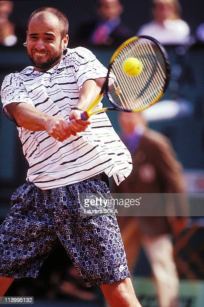 Roland Garros Tournament Andre Agassi In Paris France In June 1995