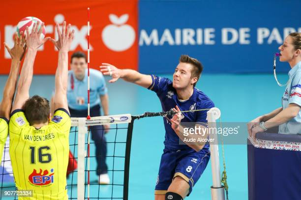 Roland Gergye of Paris during the Ligue A match between Paris Volley and Toulouse on January 20 2018 in Paris France