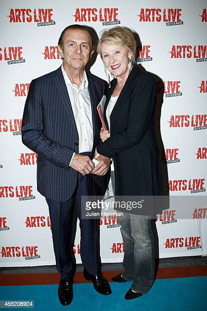 Roland Giraud and his wife Maaike Jansen attend 'Open Space' Premiere At Theatre du Rond Point on September 10 2014 in Paris France