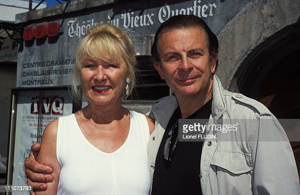 Roland Giraud and his wife Maaike Jansen in France in 2000