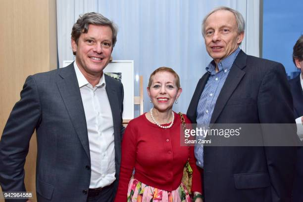 Roland Hartley Cathy Kaplan and Rem Martin attend the Spring Party to benefit Aperture and to celebrate The Photographer in the Garden at Public...