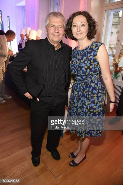 Roland Jahn and Ramona Pop attend the Bertelsmann Summer Party on June 22 2017 in Berlin Germany