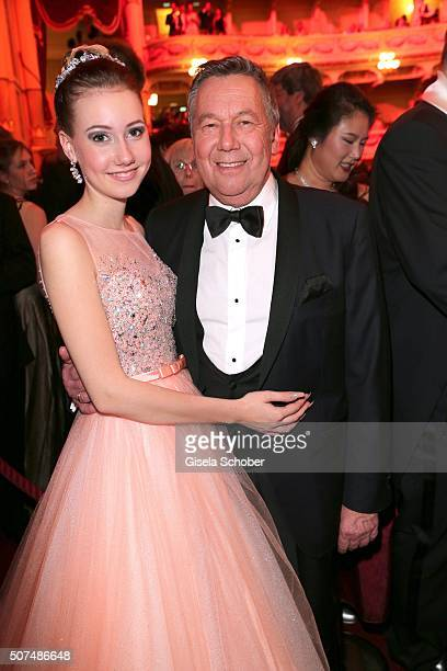 Roland Kaiser and his daughter Anna Lena Kaiser during the Semper Opera Ball 2016 at Semperoper on January 29, 2016 in Dresden, Germany.
