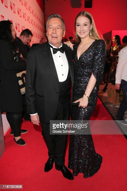 Roland Kaiser and his daughter Annalena during the Ein Herz Fuer Kinder Gala at Studio Berlin Adlershof on December 7 2019 in Berlin Germany