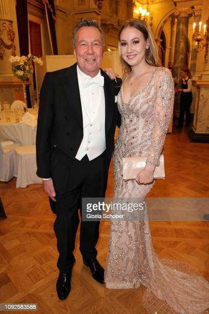Roland Kaiser and his daughter Annalena Kaiser during the Semper Opera Ball 2019 at Semperoper on February 1 2019 in Dresden Germany