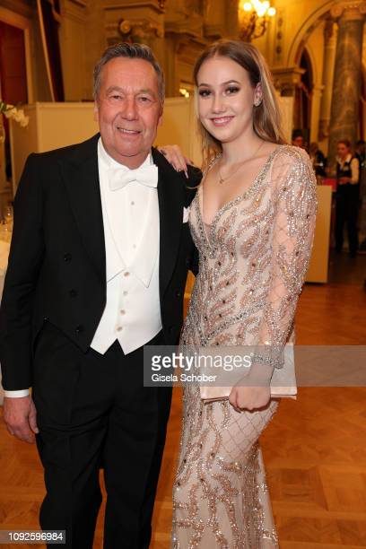 Roland Kaiser and his daughter Annalena Kaiser during the Semper Opera Ball 2019 at Semperoper on February 1, 2019 in Dresden, Germany.