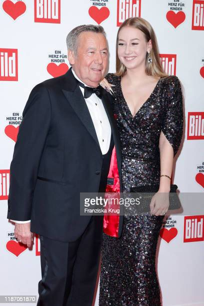 Roland Kaiser and his daugther Annalena Kaiser during the Ein Herz Fuer Kinder Gala at Studio Berlin Adlershof on December 7 2019 in Berlin Germany