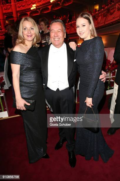 Roland Kaiser and his wife Frau Silvia and their daughter Annalena during the Semper Opera Ball 2018 at Semperoper on January 26, 2018 in Dresden,...