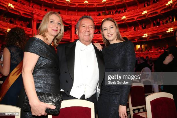Roland Kaiser and his wife Frau Silvia and their daughter Annalena during the Semper Opera Ball 2018 at Semperoper on January 26 2018 in Dresden...