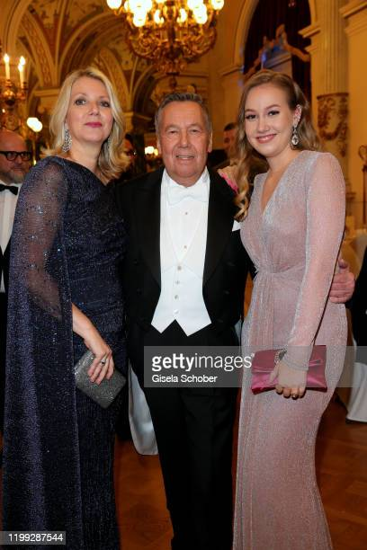 Roland Kaiser and his wife Frau Silvia Keiler and their daughter Annalena Kaiser during the 15th Semper Opera Ball 2020 at Semperoper on February 7...