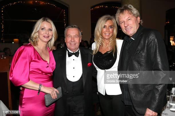 Roland Kaiser and his wife Silvia Keiler and Bernhard Brink and his wife Ute Brink during the after show party for the Ein Herz Fuer Kinder Gala at...