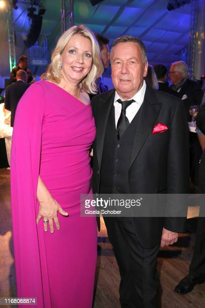 Roland Kaiser and his wife Silvia Keiler during the EAGLES Praesidenten Golf Cup Gala Evening on September 13 2019 in Bad Griesbach Germany
