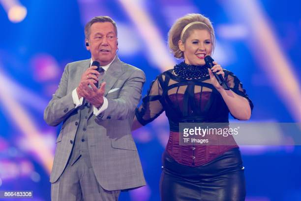 Roland Kaiser and Irish singer Maite Kelly perform the 'Schlagerboom Das Internationale Schlagerfest' at Westfalenhalle on October 21 2017 in...
