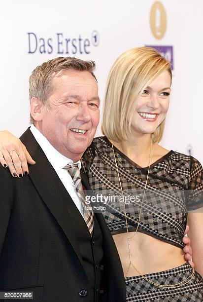 Roland Kaiser and Linda Hesse attend the Echo Award 2016 on April 07 2016 in Berlin Germany