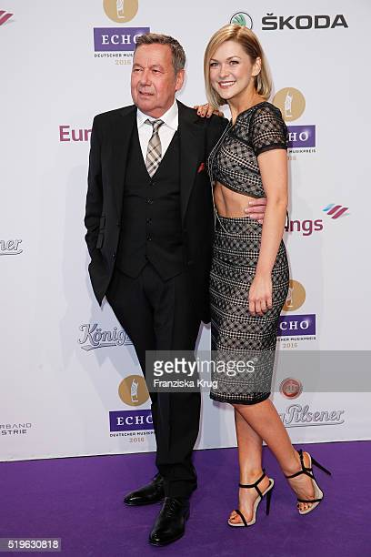 Roland Kaiser and Linda Hesse attend the Koenig Pilsener At Echo Award 2016 on April 07 2016 in Berlin Germany