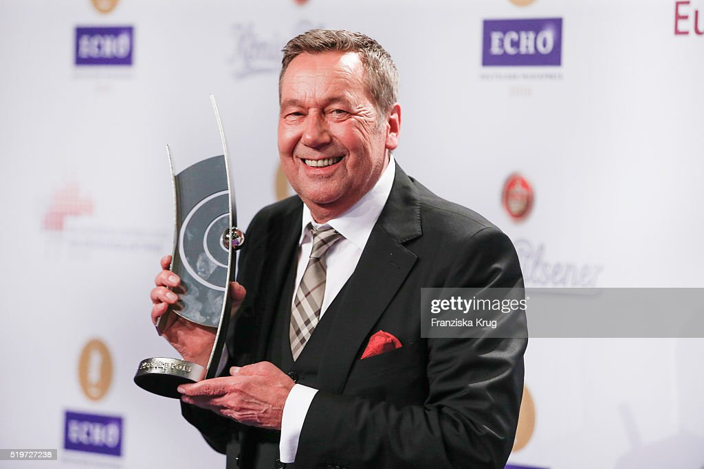 Roland Kaiser attends the Koenig Pilsener At Echo Award 2016 on April 07, 2016 in Berlin, Germany.