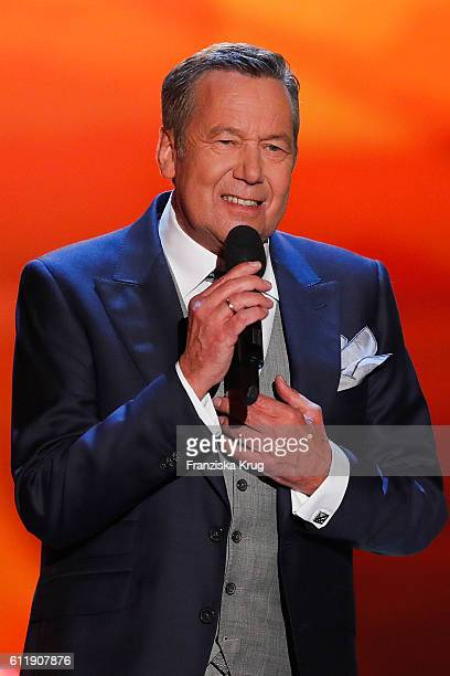 Roland Kaiser during the TV show 'Willkommen bei Carmen Nebel' at Velodrom on October 1 2016 in Berlin Germany