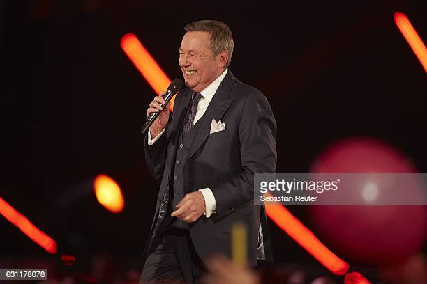 Roland Kaiser is seen on stage at the 'Das grosse Fest der Besten' tv show at Velodrom on January 7 2017 in Berlin Germany