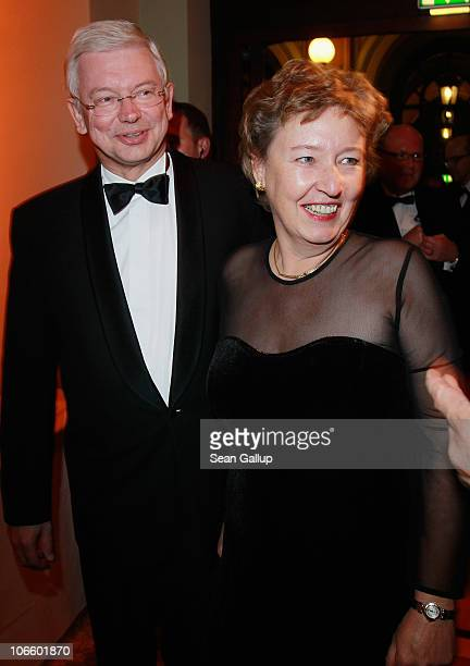 Roland Koch and his wife Anke attend the Sportpresseball 2010 at Alte Oper on November 6 2010 in Frankfurt am Main Germany
