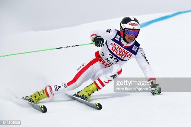 Roland Leitinger of Austria competes during the FIS Alpine Ski World Championships Men's Giant Slalom on February 17 2017 in St Moritz Switzerland