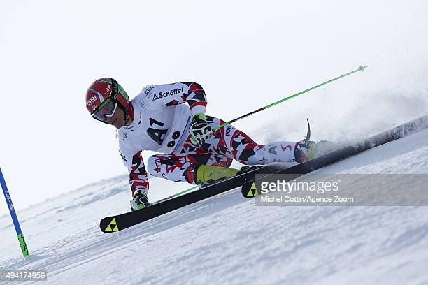 Roland Leitinger of Austria in action during the Audi FIS Alpine Ski World Cup Men's Giant Slalom on October 25 2015 in Soelden Austria