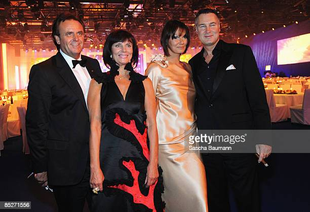 Roland Mack and wife Marianne Franziska van Almsick and Juergen B Harder attend the Bambi Awards 2008 Party on November 27 2008 in Offenburg Germany
