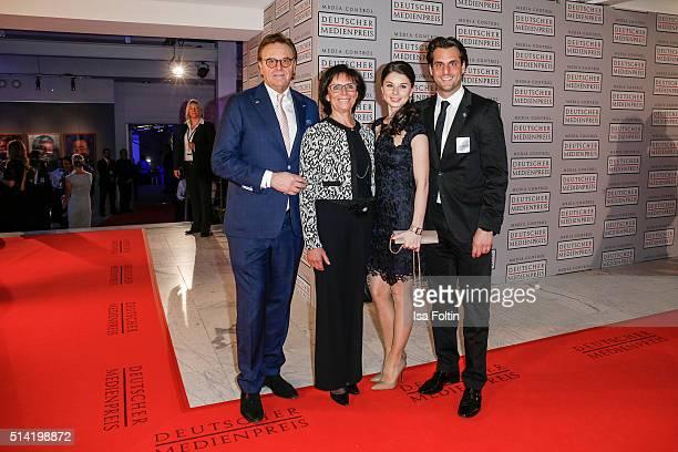 Roland Mack Marianal Mack Katja Mack and Thomas Mack attend the German Media Award 2016 on March 07 2016 in BadenBaden Germany