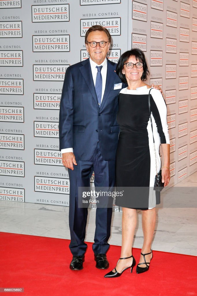 Roland Mack, owner of Europapark Rust and his wife Marianne Mack during the German Media Award 2016 at Kongresshaus on May 25, 2017 in Baden-Baden, Germany. The German Media Award (Deutscher Medienpreis) has been presented annually since 1992 to honor personalities from public life.