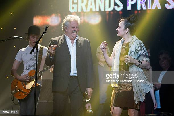 Roland Magdane and Catherine Ringer onstage during the Grands Prix Sacem 2012 Ceremony, at the Casino de Paris in Paris