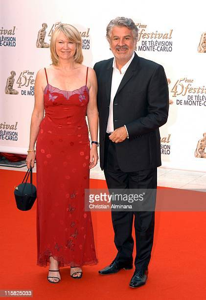 Roland Magdane and wife Marie Claude during 45th Monte Carlo Television Festival - Opening Ceremony - Red Carpet at Grimaldi Forum in Monte Carlo,...