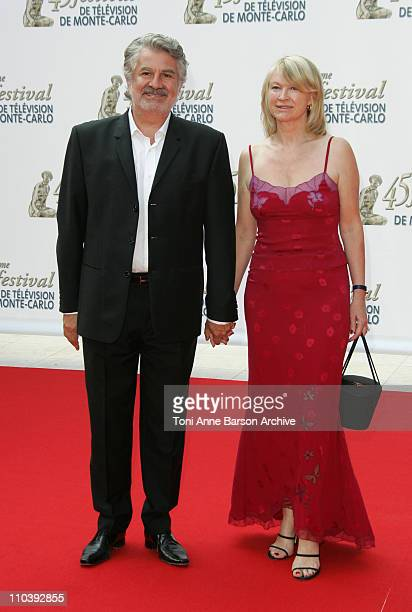 Roland Magdane and WIfe Marie-Claude during 45th Monte Carlo Television Festival - Opening Ceremony - Red Carpet at Grimaldi Forum in Monte Carlo,...
